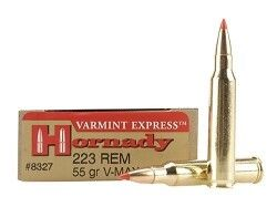 Hornady .223 V-Max Ammo For Sale 55gr Ballistic Tip 20 RD Box