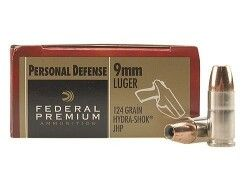 Federal Premium Ammunition 9mm Luger Ammo For Sale Hydra-Shok JHP, 124gr
